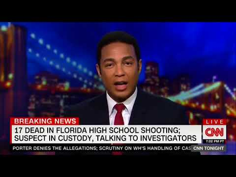 Don Lemon Makes Emotional Plea For Discussion on Guns After School Shooting:Do You Feel Safe Tonight
