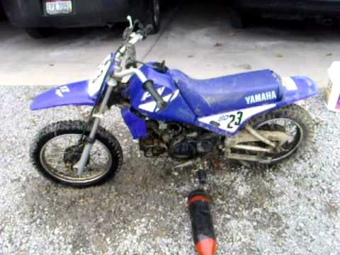 yamaha 80cc dirtbike walk around and start up youtube. Black Bedroom Furniture Sets. Home Design Ideas