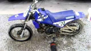 yamaha 80cc dirtbike walk around and start up