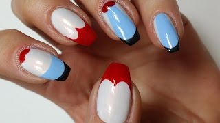 Easy Nail Art Design | OPI Inspired by The Red Queen (Khrystynas Nail Art)