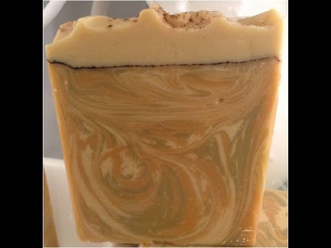 Making and cutting Oatmeal Milk and Honey soap (with colloidal oatmeal and Neem oil)