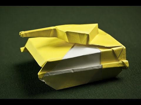 how to make a paper tank origami