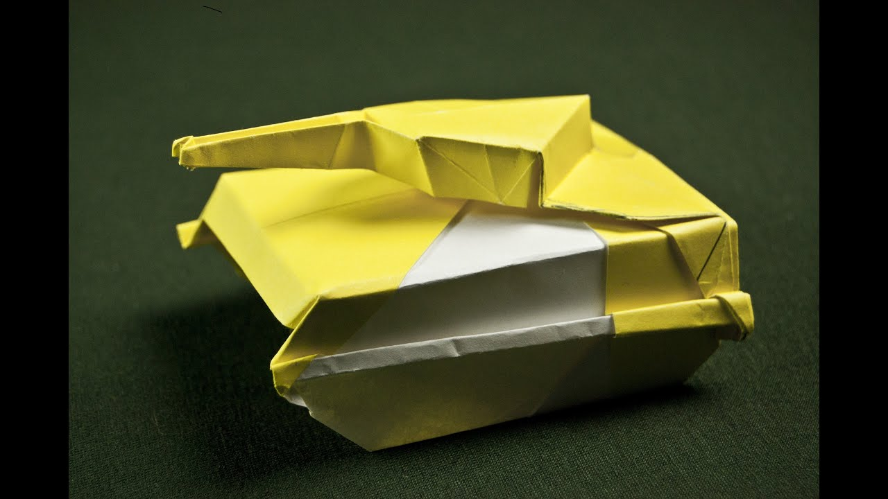 tank origami tutorial origami handmade