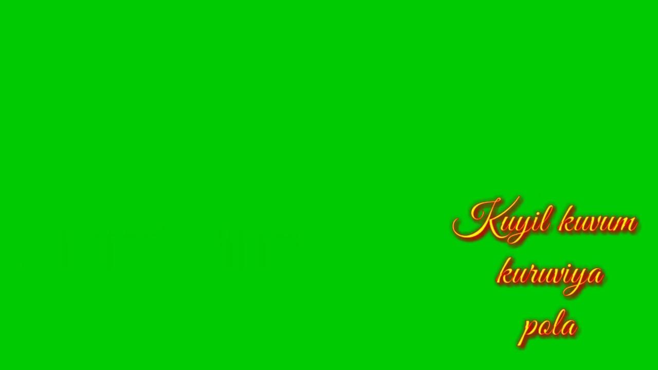 Athangara orathil ninalae song lyrics/Tamil green screen video