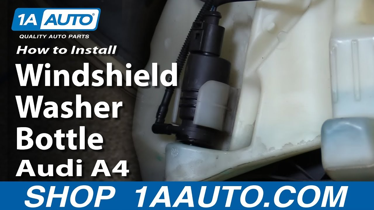 how to install replace windshield washer bottle 2005 08 audi a4 rh youtube com 2002 Audi A6 Service Manual Audi A4 Owners Manual PDF