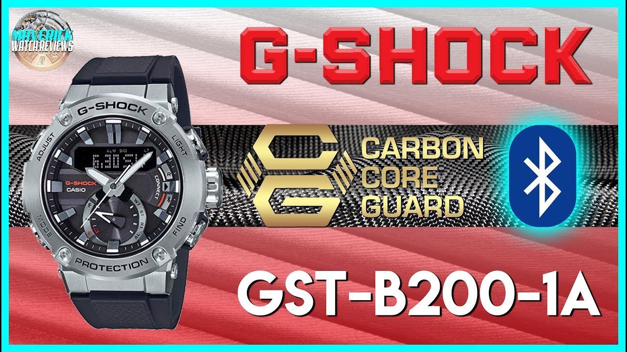 More Carbon G Shock G Steel 200m Solar Quartz Bluetooth Gst B200