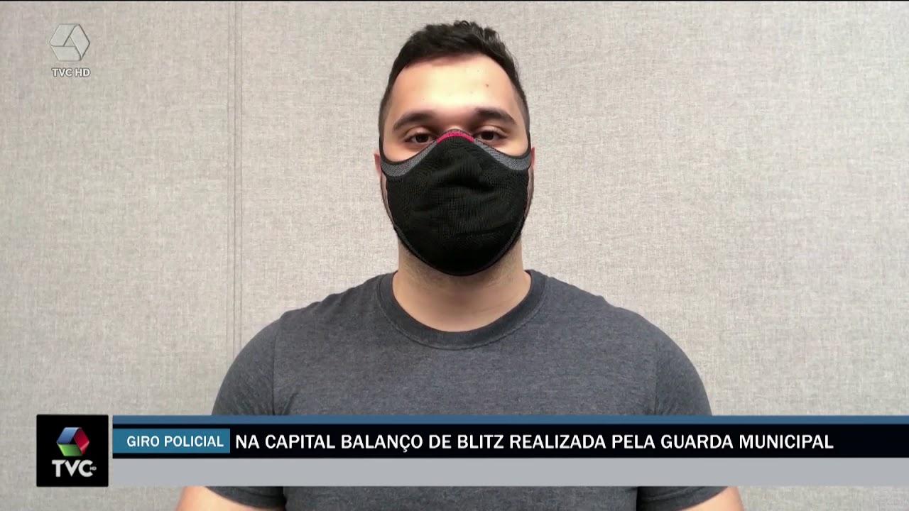 guarda municipal da capital faz balanço de blitz e três acabaram presos por TRÁFICO