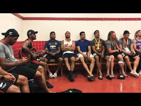 IN THE SHEDS: All Blacks Sevens finish with a song