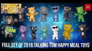 Full Virtual Set of 2016 TALKING TOM and Friends Mcdonalds Happy Meal Toys Tickets To Toy Time