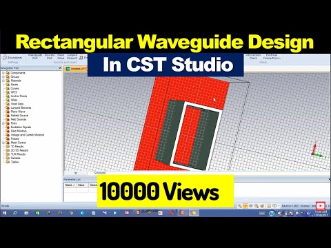 how-to-design-rectangular-waveguide-using-cst-microwave-studio-|in-hindi