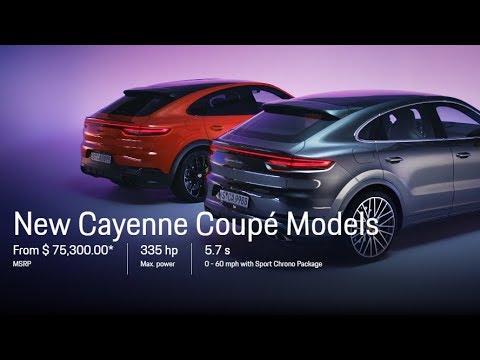 2020 Porsche Cayenne Coupe Colors