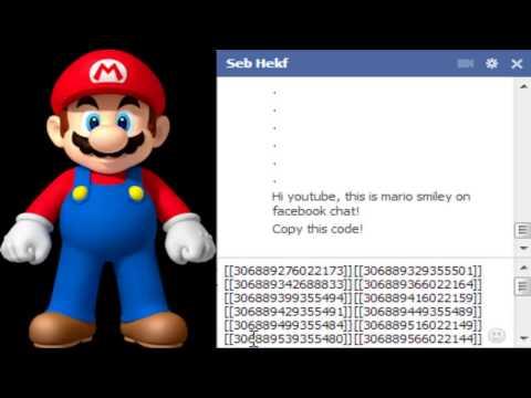 Mario Chat Code Facebook Smiley