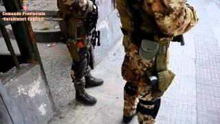 Il blitz dei carabinieri a Is Mirrionis
