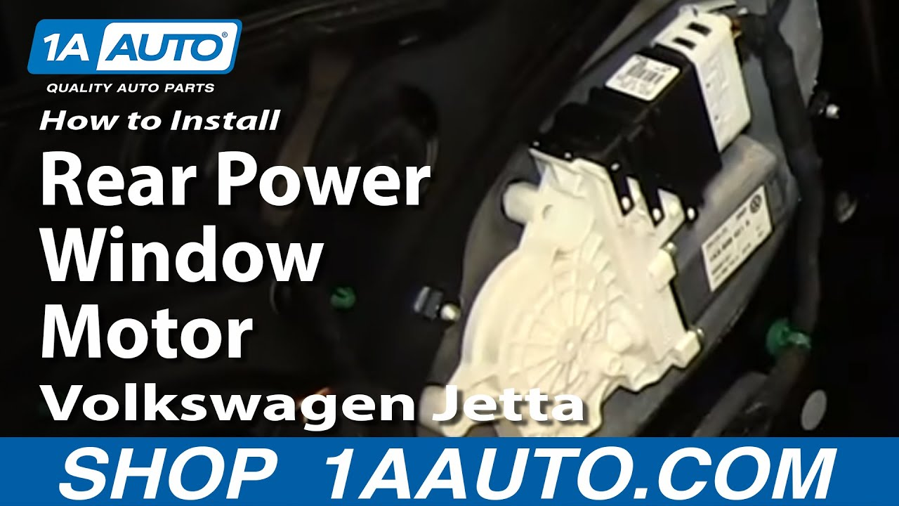 How To Install Replace Rear Power Window Motor 2005 10