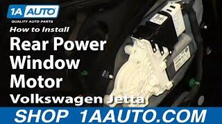 Hoe Te Installeren Vervang Achterkant Macht Venster Motor 2005-10 Volkswagen VW Jetta