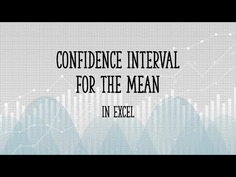 Confidence interval for the mean in Excel