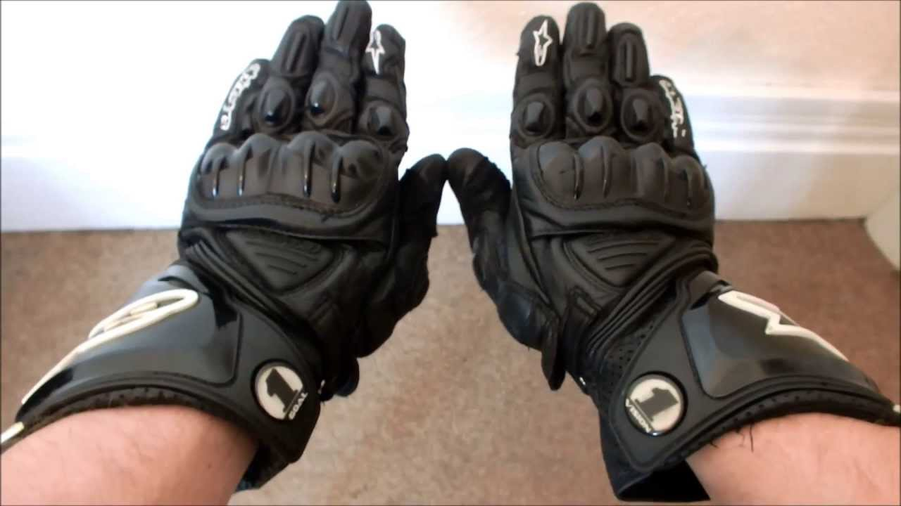 ALPINESTARS GP PRO BLACK LEATHER GLOVES REVIEW MOTORCYCLE RACING MOTOGP - YouTube