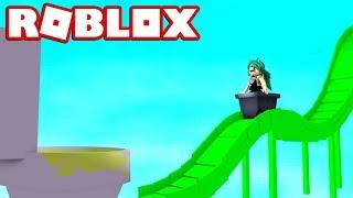 slide of SLIME (999.999.999 meters) world's biggest in ROBLOX 😱