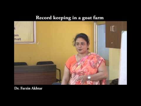 Record Keeping in a goat farm
