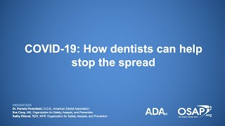 What can dentists do to help keep the coronavirus from infecting themselves and others? some recommendations include only providing care for dental emergenci...