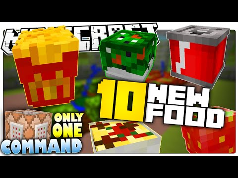 10 New Food In Minecraft 1.9 | Custom Command