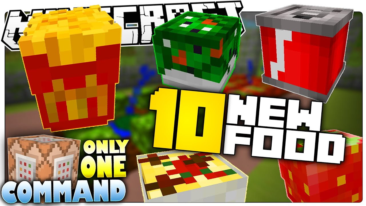 10 new food in minecraft 1 9 custom command youtube for Cuisine minecraft