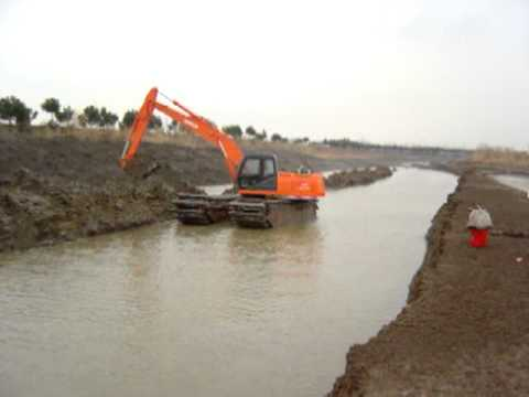 SUNTON Backhoe Dredger, Amphibious Pontoon Excavator, Dredging Equipment