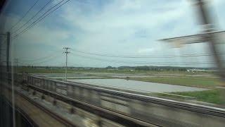 東北・北海道新幹線 H5系 はやぶさ10号 車窓3 盛岡~仙台 Scenery from a Shinkansen window