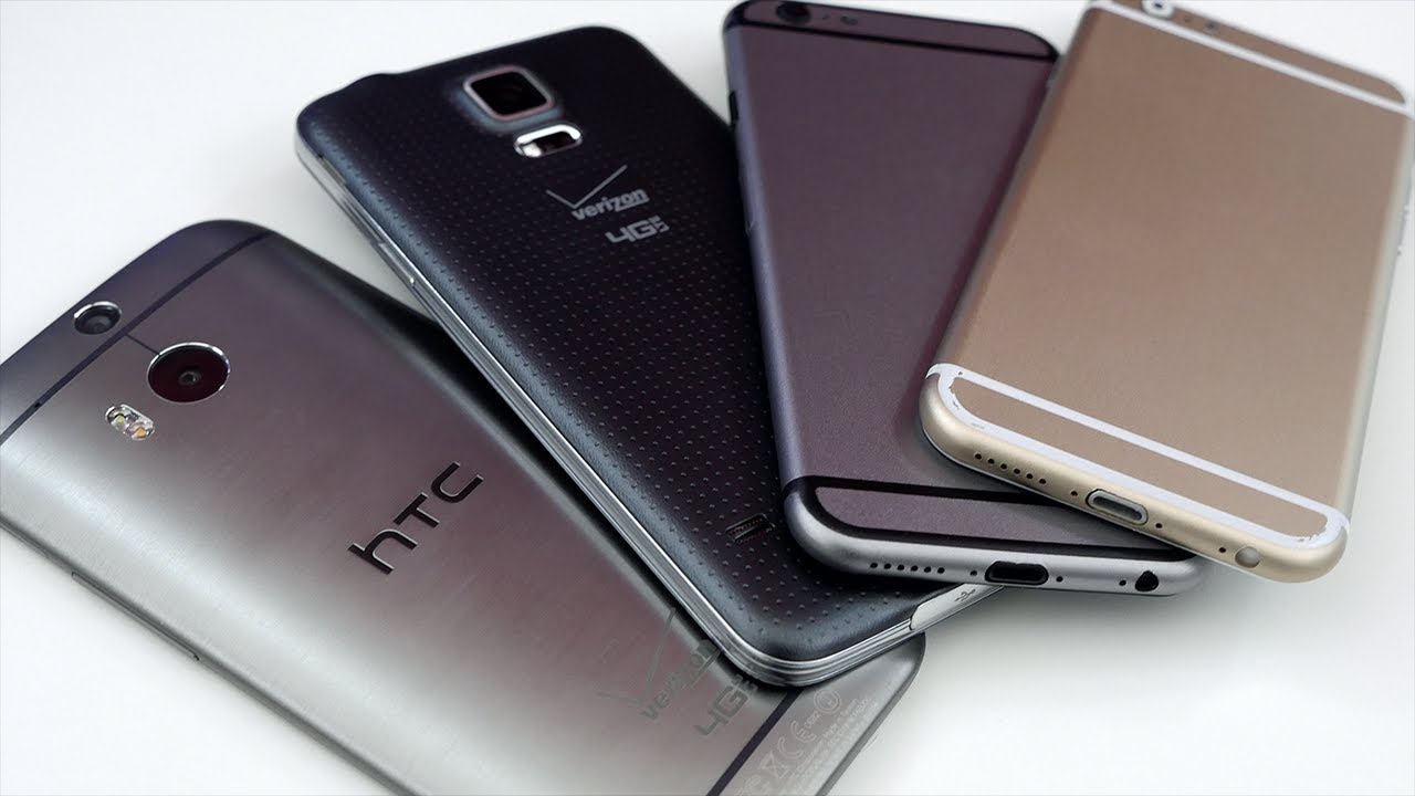Galaxy Alpha Vs S5 size comparison: iphone 6 vs htc one m8, galaxy s5, and