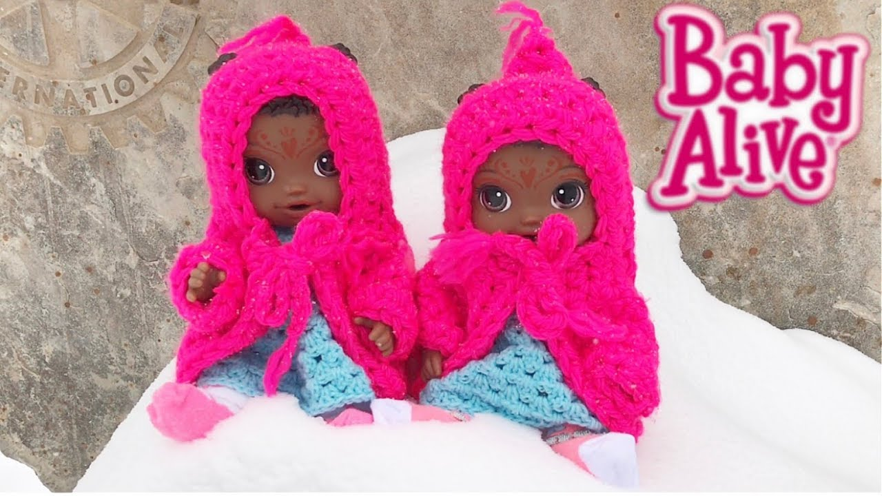 Baby Alive Twin Dolls See Snow For The First Time