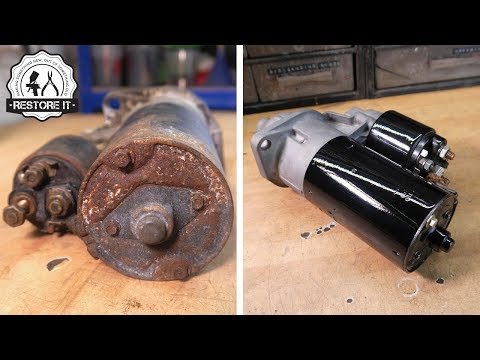 BMW E30 Starter Motor RESTORATION  | BMW E30 325i Sport Restoration E7 S1
