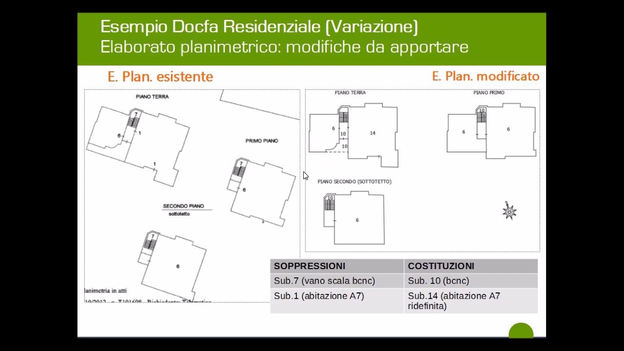 Docfa Caso Studio Frazionamento E Fusione Subalterni Categorie A7, A10, C2    Parte 2