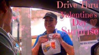 Drive Thru Valentine's Day Surprise