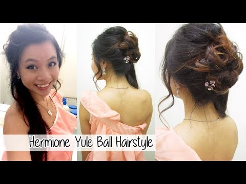 how to do your hair like harry styles hermione granger yule hairstyle l formal updo with 7484