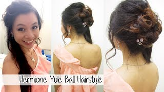 Hermione Granger Yule Ball Hairstyle l Formal Updo with Curls