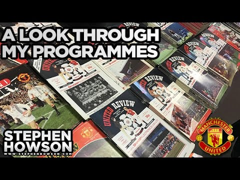 A Look Through My Programmes! | Manchester United Memorabilia | MUFC
