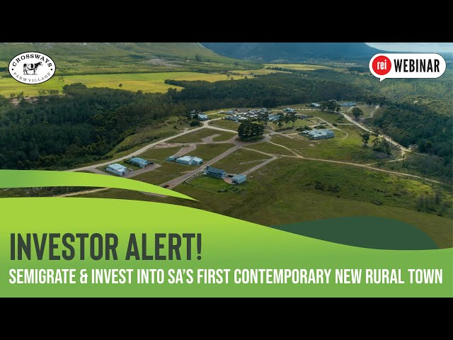 Semigrate & invest into SA's first contemporary new rural town | Crossways Farm Village