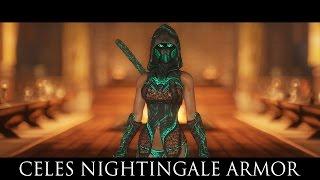 TES V - Skyrim Mods: Celes Nightingale Armor by Deserter X