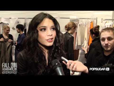 Vanessa Hudgens Backstage at Yigal Azrouël