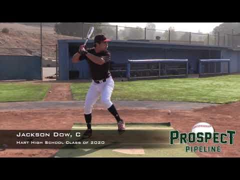 Jackson Dow Prospect Video, C, Hart High School Class of 2020