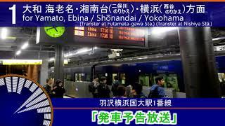 【発車メロディーあり!】羽沢横浜国大駅 放送集