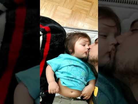 Cute baby kissing daddy ▶1:17