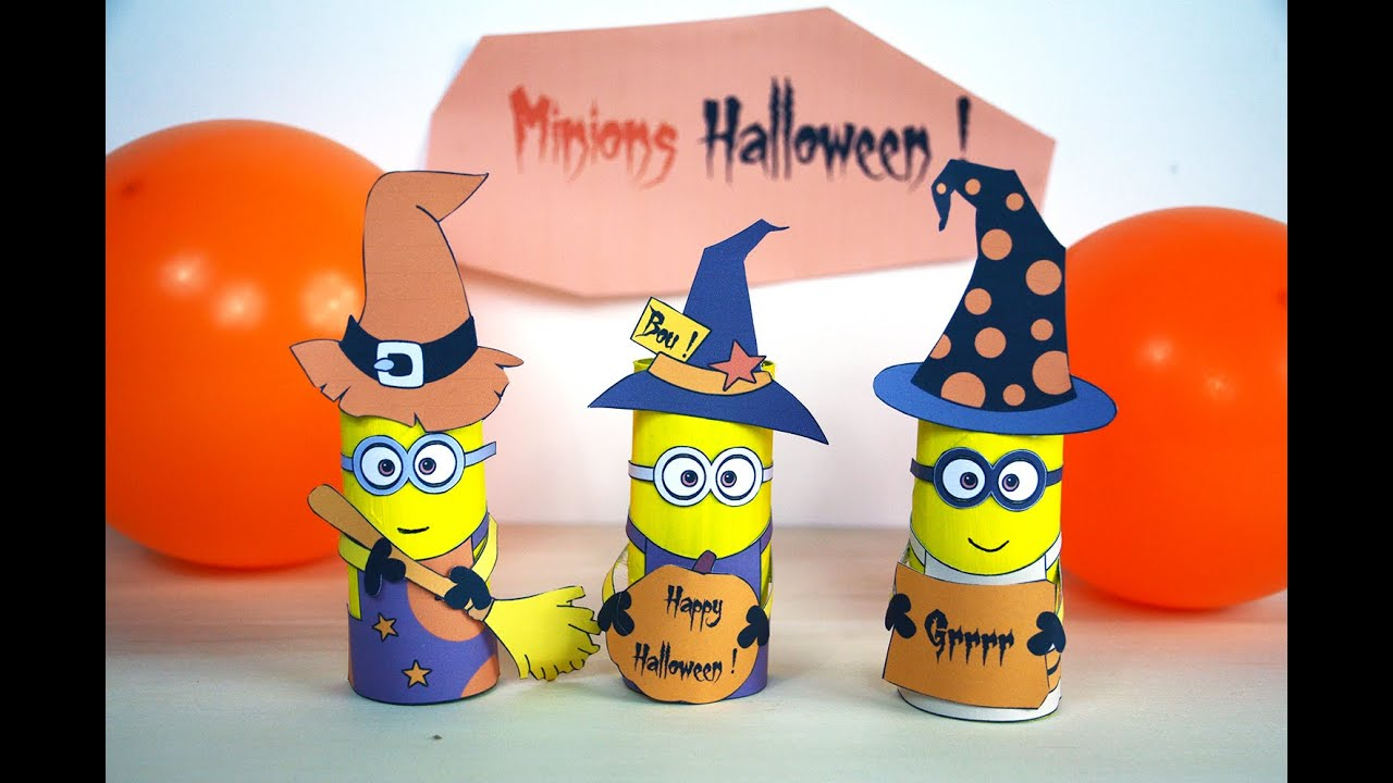 minions d 39 halloween activit manuelle bricolage enfant carton de papier toilette diy. Black Bedroom Furniture Sets. Home Design Ideas