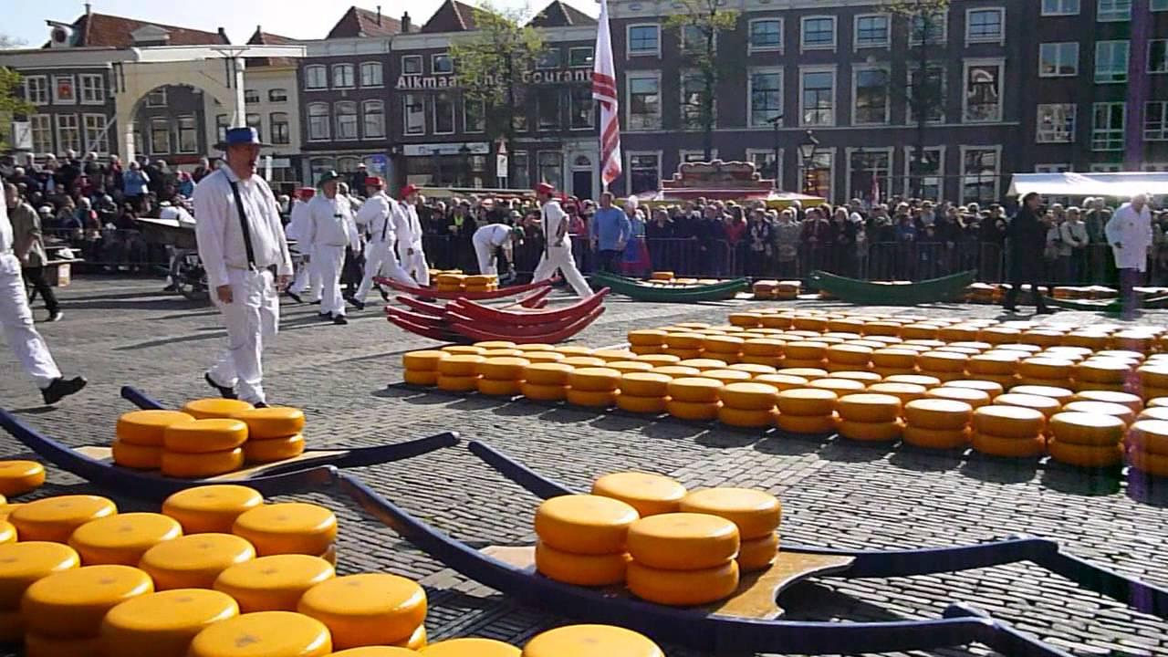 Mercado Del Queso En Alkmaar Holanda Youtube