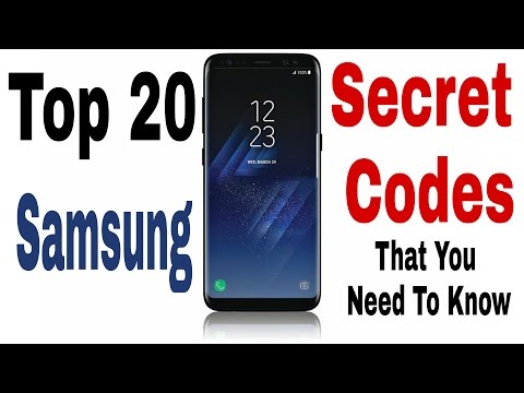 TOP 20 Samsung Secret Codes That You Need To Know 2018