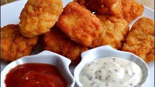 Куриные наггетсы как в макдональдсе. Наггетсы дома рецепт. Куриные наггетсы в домашних условиях