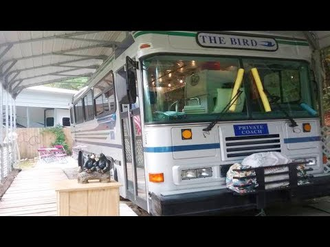 $20k Bluebird Bus Conversion For Sale On Craigslist In Dillard, Georgia | Lovely Tiny House