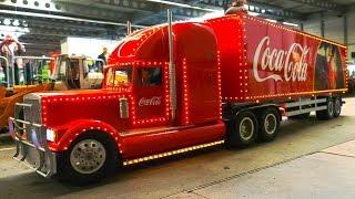 RC COCA COLA CHRISTMAS TRUCK, RC TRUCKS, RC MACHINES, RC EXCAVATORS IN ACTION!!