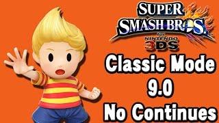 Super Smash Bros. For 3DS (Classic Mode 9.0 No Continues | Lucas)