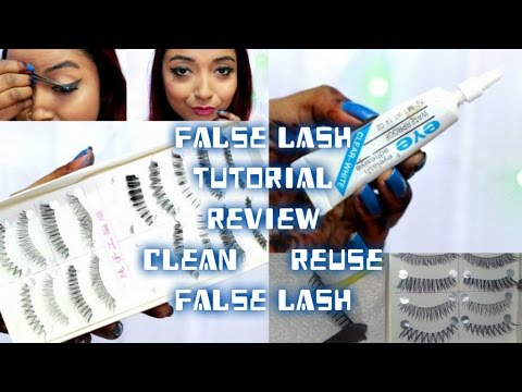 Beginner Makeup| How to Apply False EyeLashes Tutorial| How to Clean Fake Lashes at Home